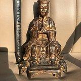 紫铜鎏金坐像