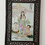 清康熙年间 寿古斋 瓷板画