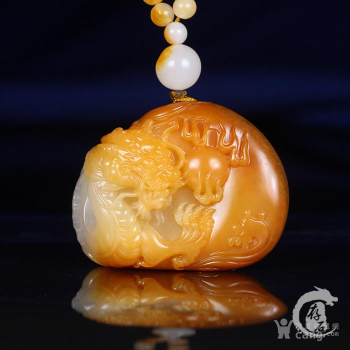 存石和田玉 新疆和田玉籽料黄沁籽料龙行天下挂件图1