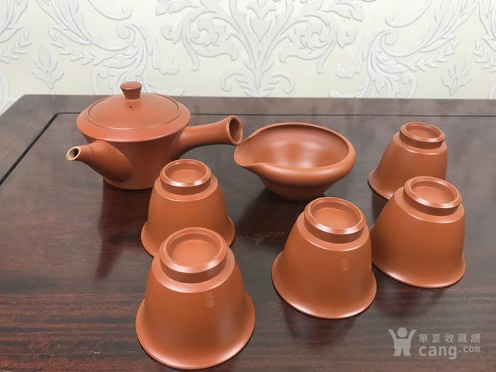 日本回流 纯手工制作 常滑烧 侧把壶 茶具 一套