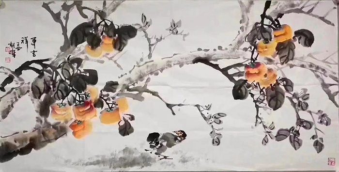 甘肃美协杨朝晖  183 四尺花鸟牡丹图8