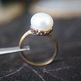 欧洲天然珍珠老戒指