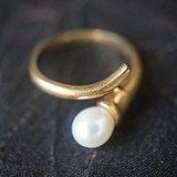天然珍珠老戒指