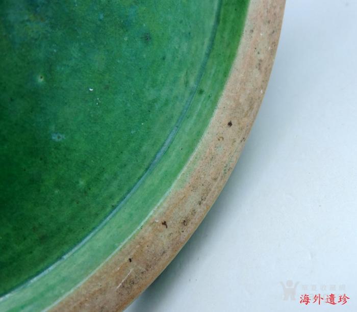 清 康熙 朗窑绿釉 绿朗窑 苹果青 花觚图8