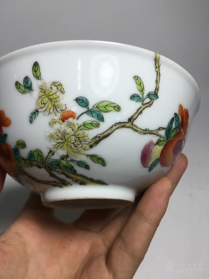 清代过墙纹花卉碗图2