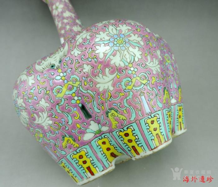 清代 粉彩缠枝莲纹五孔瓶 乾隆年制款图11