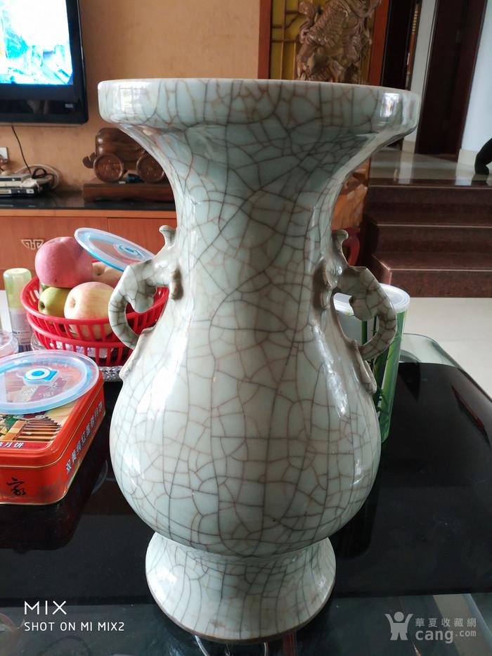 清中期哥釉琵琶尊造型瓶图1