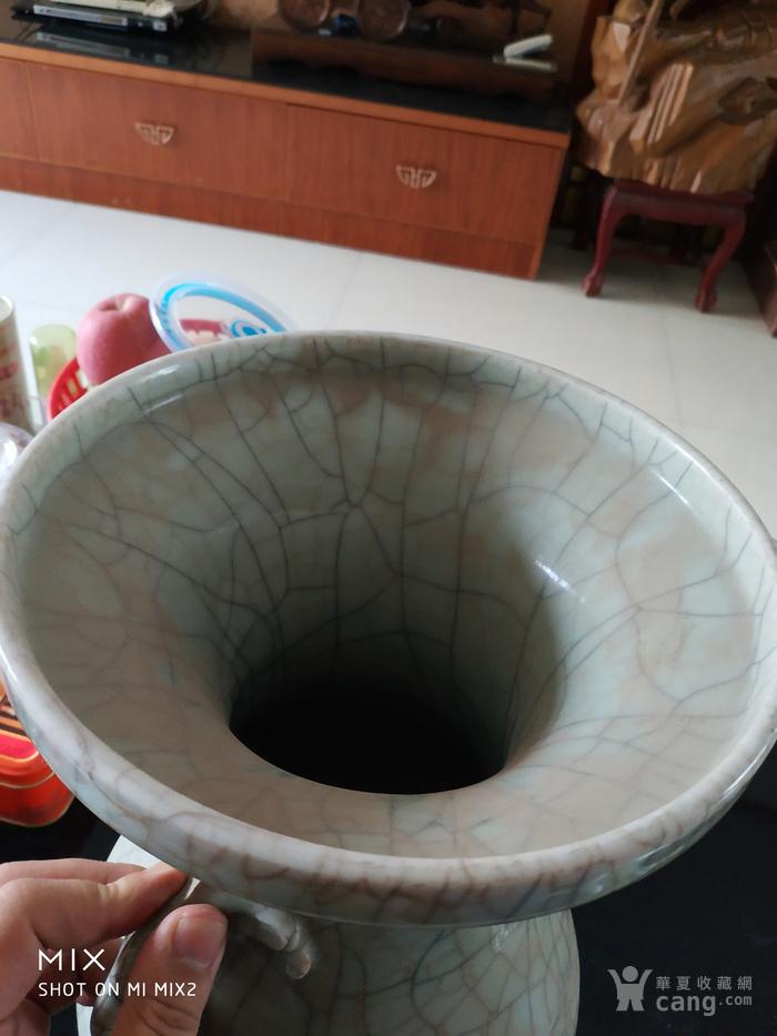清中期哥釉琵琶尊造型瓶图5