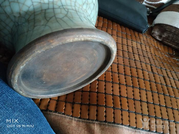 清中期哥釉琵琶尊造型瓶图7