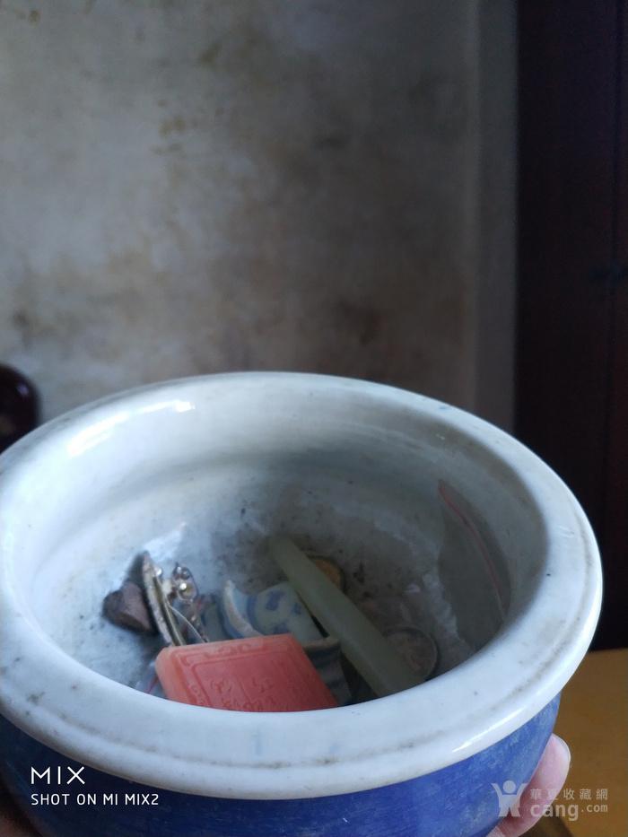 清中期蓝釉香炉图5