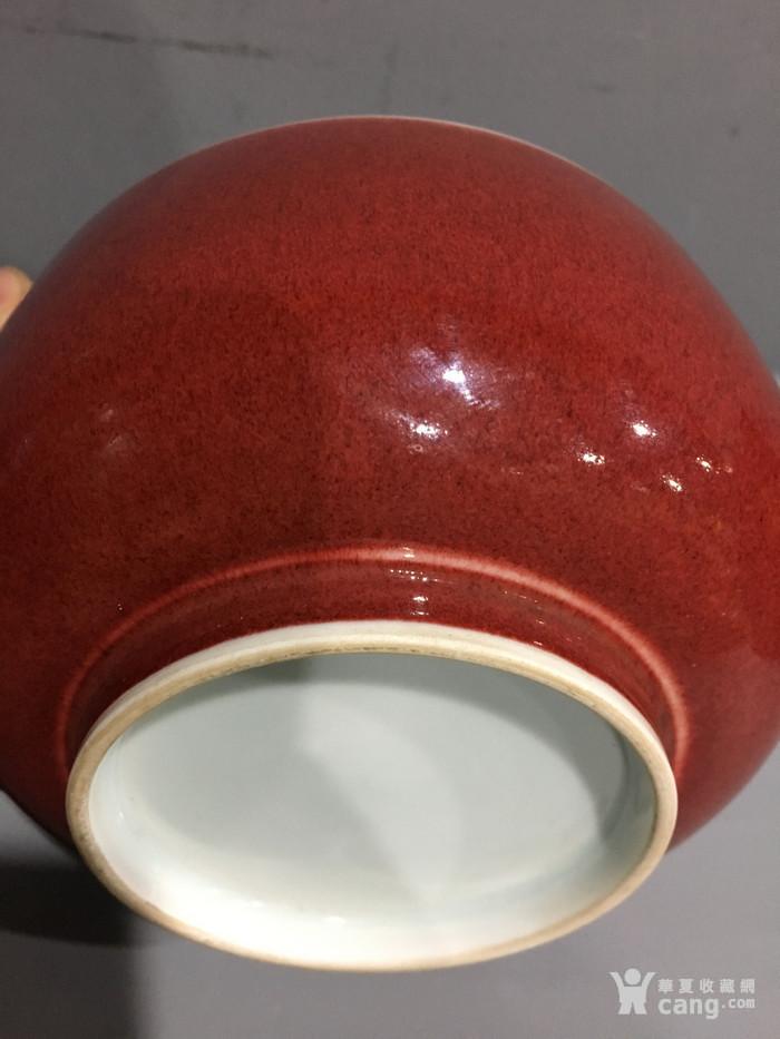 郎窑红碗 清康熙 图4