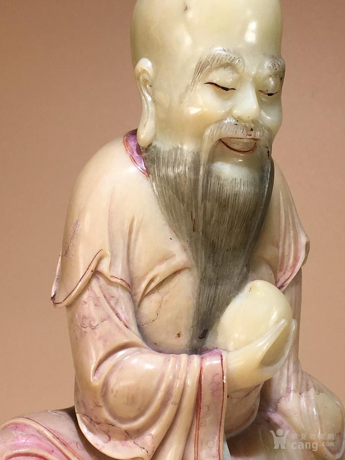 清代寿山石雕东方朔偷桃造像 明清石雕人物像清代寿山石精品图5