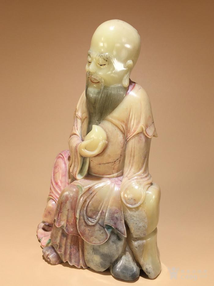 清代寿山石雕东方朔偷桃造像 明清石雕人物像清代寿山石精品图6