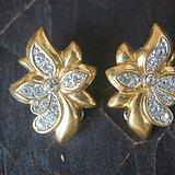 欧洲立体花朵造型精镶水钻耳夹