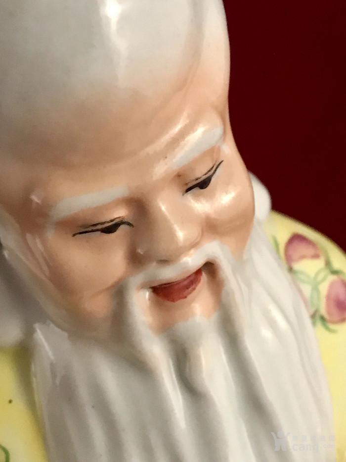 民国蔡昌泰款 粉彩老寿星塑像图2