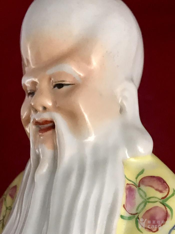 民国蔡昌泰款 粉彩老寿星塑像图3