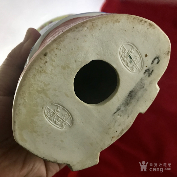 民国蔡昌泰款 粉彩老寿星塑像图12