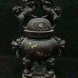 大清乾隆特大号型紫铜香熏炉