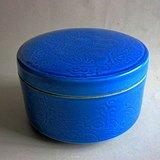 蓝釉彩 龙纹 蟋蟀罐