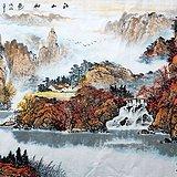 最美山水画 爱新觉罗可立老师大六尺180X98厘米