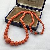 莫莫momo红珊瑚4 11mm珊瑚项链