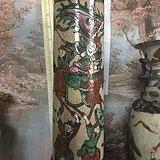 英伦茉莉早市 晚清刀马人物帽筒高28厘米全品