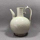 *瓷器*瓷器*定窑白瓷划花执壶茶壶酒壶古代瓷器古董老货