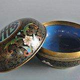 清铜胎掐丝珐琅彩万寿纹印泥盒