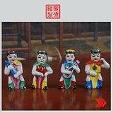 景德镇雕塑瓷厂精品雕塑 四大天王