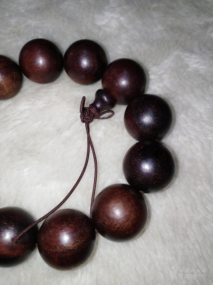 印度紫檀木雕2.0手串包真紫檀珠子直径2厘米图3