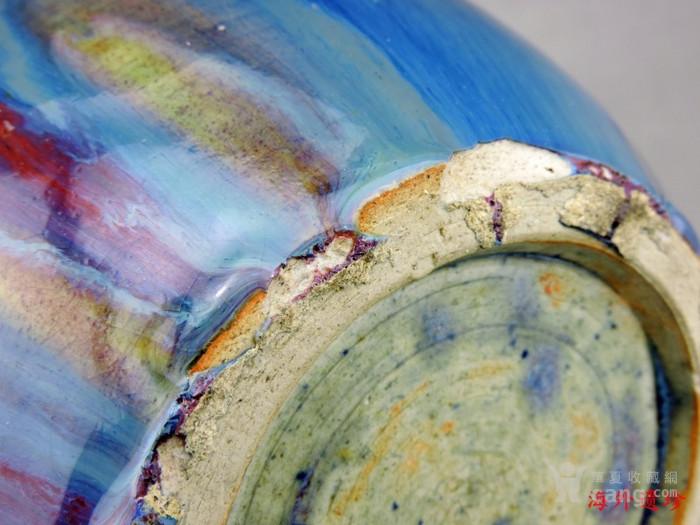清代 中晚期 螭龙堆塑窑变釉天球瓶 35厘米图10