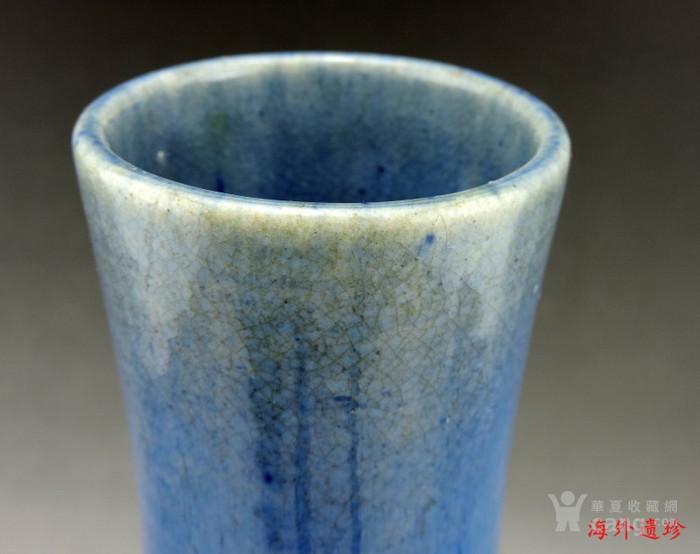 清代 中晚期 螭龙堆塑窑变釉天球瓶 35厘米图8