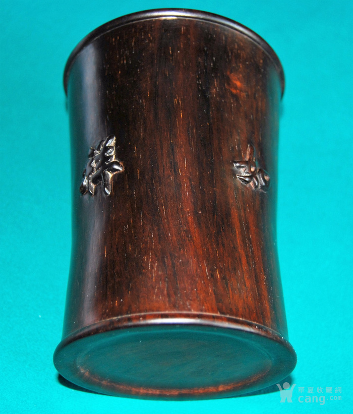 老红木束腰笔筒c10图4