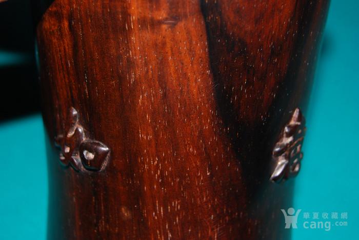 老红木束腰笔筒c10图5