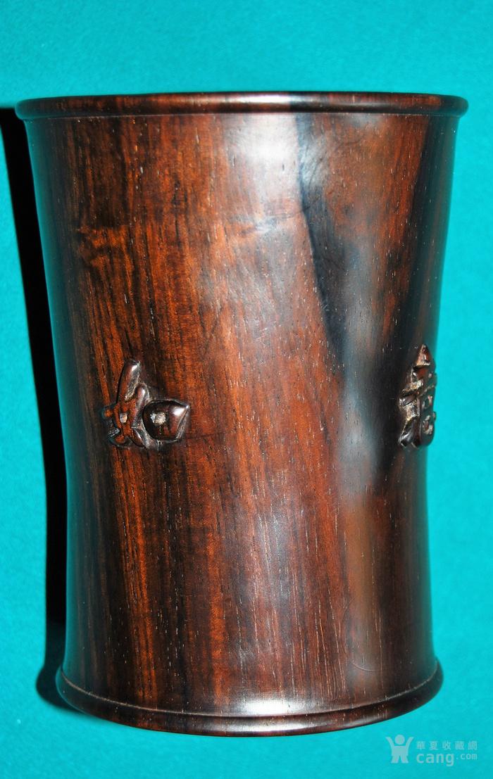 老红木束腰笔筒c10图7
