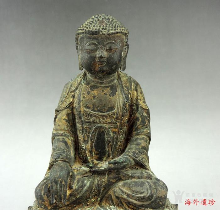 明代 嘉靖九年释迦摩尼泥金铜像图12