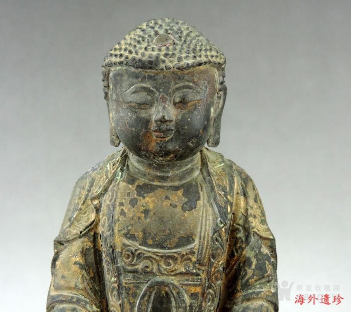 明代 嘉靖九年释迦摩尼泥金铜像图2