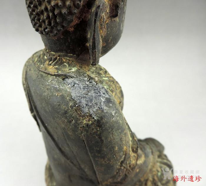 明代 嘉靖九年释迦摩尼泥金铜像图5
