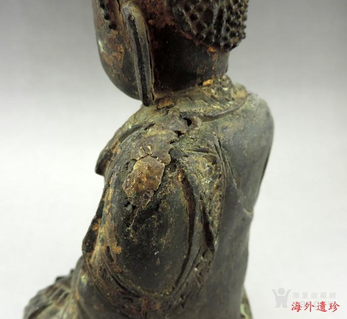 明代 嘉靖九年释迦摩尼泥金铜像图7
