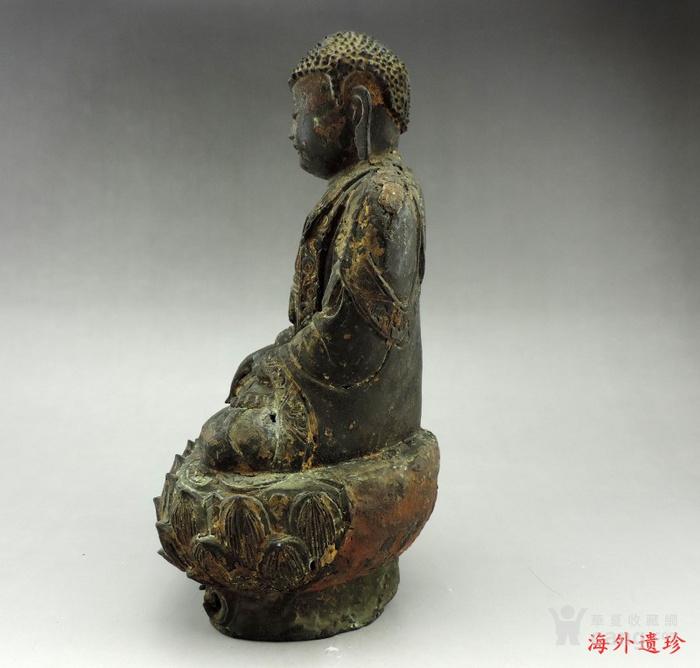 明代 嘉靖九年释迦摩尼泥金铜像图6