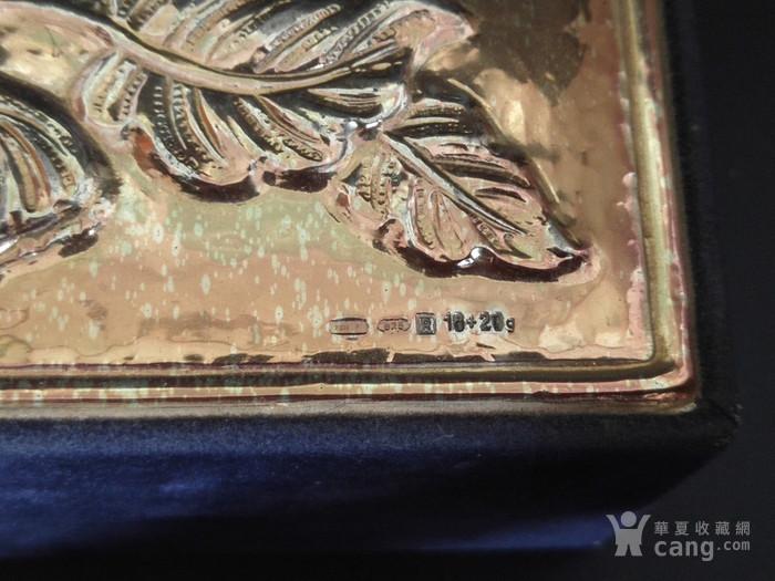 意大利手工制作纯银浮雕收纳盒图3