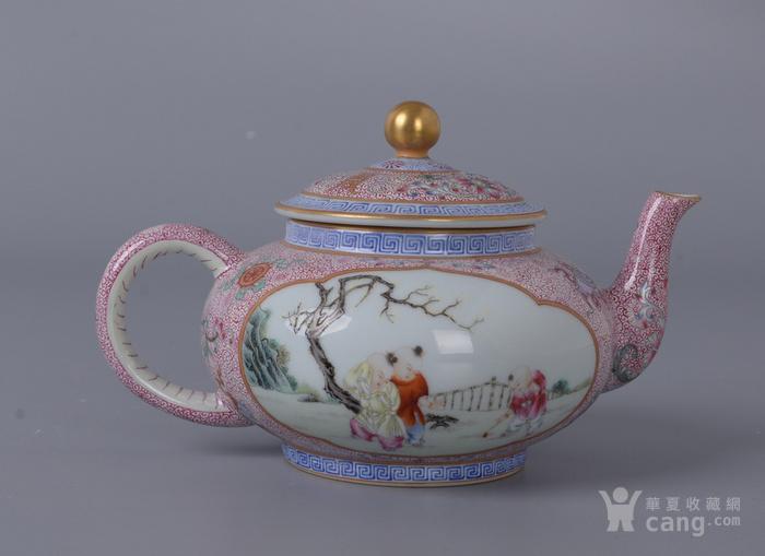 欧洲回流粉彩人物茶壶图1