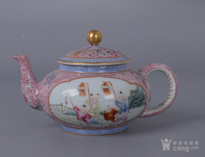欧洲回流粉彩人物茶壶图3