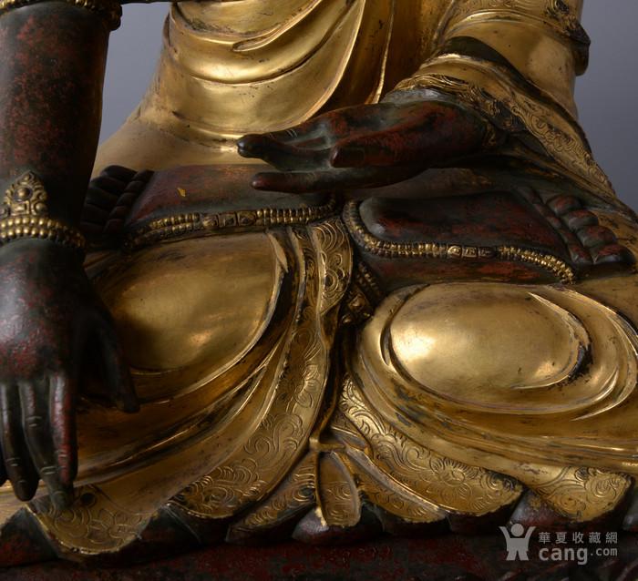 欧洲回流铜鎏金佛像图3