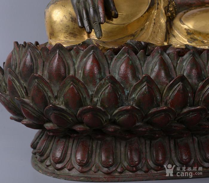 欧洲回流铜鎏金佛像图5