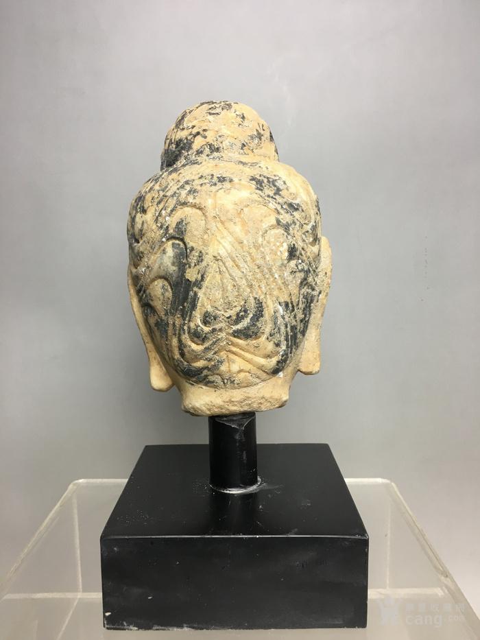 汉白玉石雕观音佛头图4