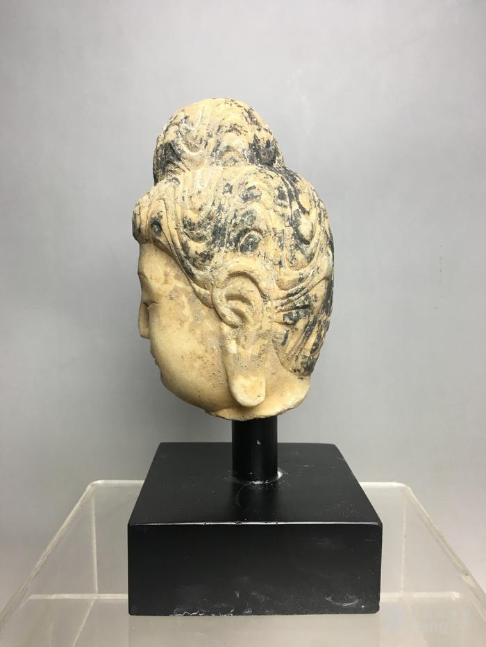 汉白玉石雕观音佛头图3