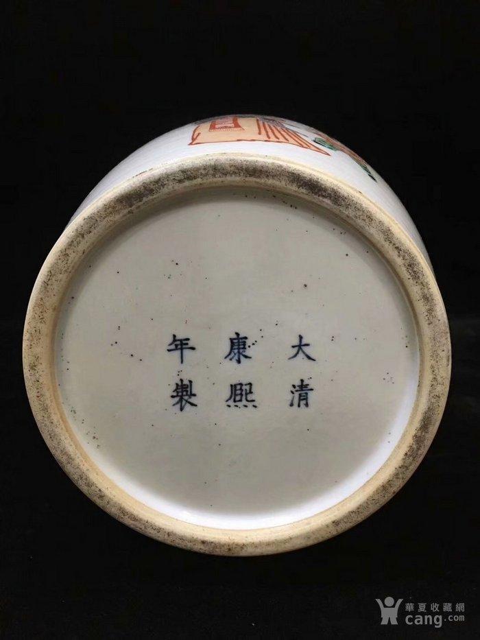 康熙五彩人物棒槌瓶图8