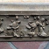 清 木雕人物腰板