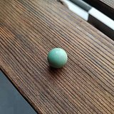 原矿绿松石直径15mm圆珠